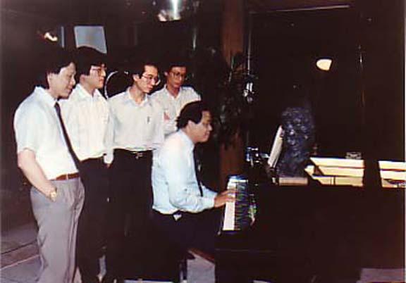 1989 @ 607 Houston,Texas - Đăng Khánh-Trịnh Dương Minh-Trịnh Lê Trung-Trần Văn Anh-NS.Lê Vă Khoa